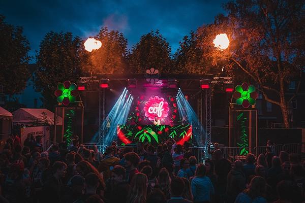 Veranstaltungstechnik & Eventaufbau City of Flowers COF Straelen 2019 mit Flames