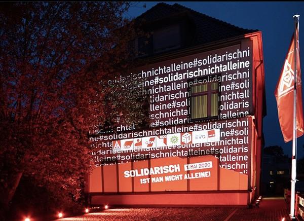 3D Mapping, Gebäude-Mapping für Deutscher Gewerkschaftsbund DGB 1. Mai Aktion