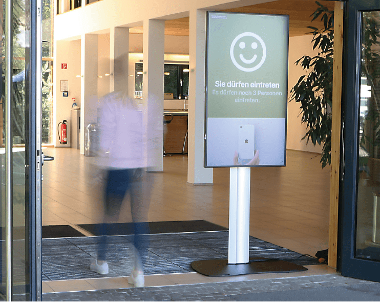 Personenzählsysteme - Hintergrundbild - Header - Corona Medientechnik Display Kamera Werbung Einlasskontrolle Shoplokal Smarte Lösung
