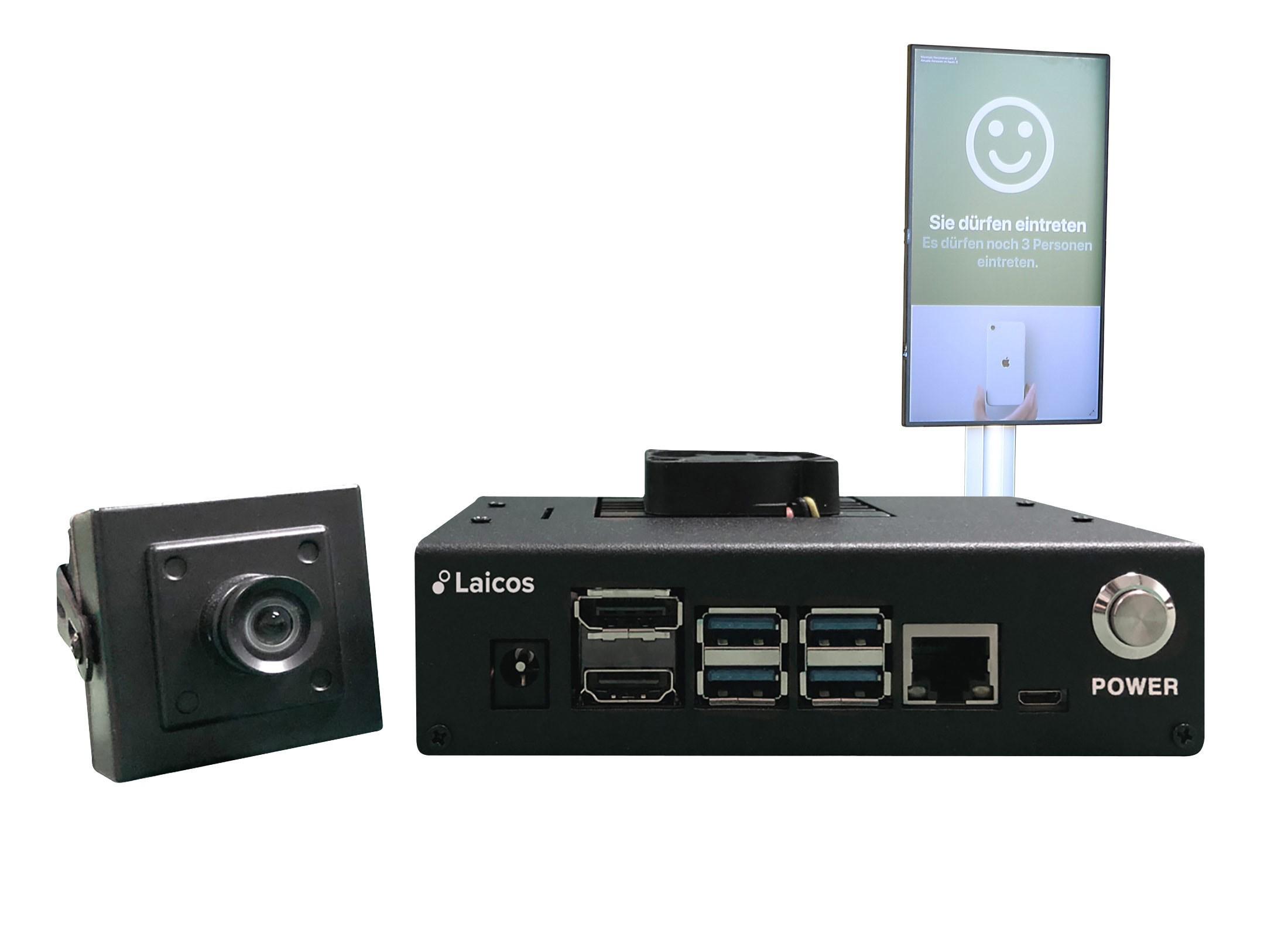 Personenzählsystem von Laicos zur EInlasskontrolle - Laicos Customer.Count Ampelsystem Analyse Besucherströme